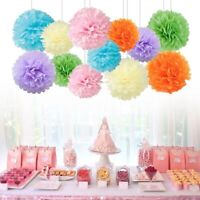9Pcs Large Tissue Paper Pompom Pom Poms Hanging Garland Balls Party DIY Decor