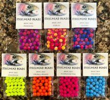 Steelhead Fishing Beads - 210 Assorted 8mm Natural Drift Beads Trout/Salmon Eggs