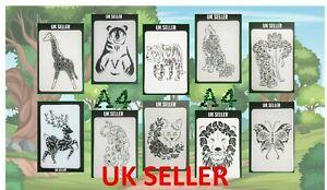 A4 Size Animal/Wild Animal Flexible Thin Plastic Reusable Art Craft Stencil