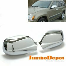 Chrome Side Door Full Mirror Cover Trims Fit for 2005-2010 JEEP Grand Cherokee