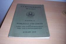 F.S. Kustermann München Katalog 12 1939 Werkzeuge und Geräte Landwirtschaft