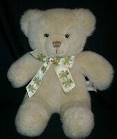 "12"" VINTAGE 1987 HEARTLINE TEDDY BEAR STUFFED ANIMAL PLUSH TOY TAN GRAPHICS INTL"