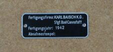 Packtaschen Typenschild, passt für BMW R12, R75, R71, Zündapp KS750, DKW, NSU