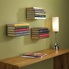 4x Umbra Conceal Invisible Floating Book Shelf - Large Silver