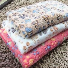 Pet Dog Cat Mat Sleep Bed Warm Cushion Paw Printed Fleece Soft Puppy Blanket Lot
