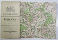 1909 antique OS Ordnance Survey one-inch Third Edition Map 127 Tenterden Lg Sht