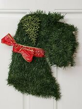 Handmade Schnauzer Wreath Dog Christmas Puppy X-mas outdoor / indoor