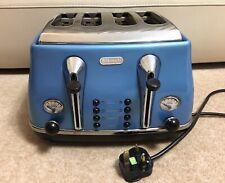 Delonghi Toaster Blue 4 Slice Good Working Order