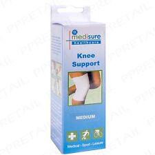 Medium White Knee Support Elaticated Bandage Gym/Exercise Injury Prevention Leg