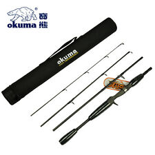 Okuma 4pc Travel Fishing Rod + Tube - 1.69m IM8 Carbon Fibre Rod + Fuji Guides