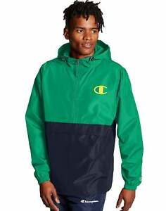Champion Colorblocked Packable Jacket Windbreaker Pop Color Logo Men's Athletic