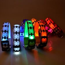 LED Light Flashing Glow Luminous Adjustable Pet Dog Safety Collar Night Nylon