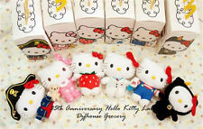 2009 McDonald's 35 Anniversary Hello Kitty Lab Set 6 Plush Doll 7'' w/t pack box