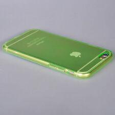 "iPhone 6  6S Case (4.7"")- Ultra Thin Transparent Green TPU Flexible Gel Case"