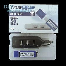 True Blue Mini-Fight/Cristal/el cabeza de crack Pack para accesorios de consola de juegos de 101 nos