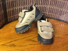 Spalding infant shoes size 5.5 black tan orange athletic  F19