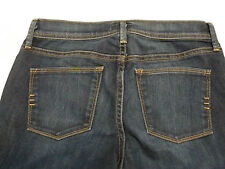 Urban Outfitters Size 24 Wide Flare Leg Jeans Dark Wash Fading 28 x 33.5