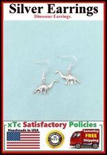 Beautiful DINOSAUR Silver Dangle Earrings.