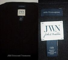 JOHN W. NORDSTROM 100% ITALIAN MERINO WOOL SWEATER MEN'S SIZE 1XB BIG BLACK