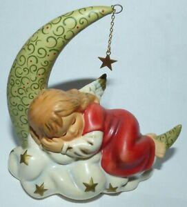 Goebel Engel Weihnachtsengel schlafend auf Mond  Nr. 41-191     17286