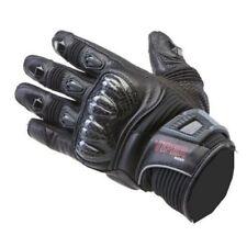 Guanti neri per motociclista pelle e tessuto s