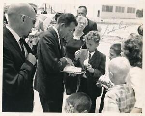 Gordon Cooper- Vintage Glossy Signed NASA Photograph