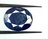 Blue Tanzanite Natural 7.20 Ct Oval Cut Gemstone Untreated AGSL Certified D3860