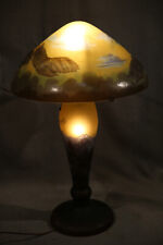 French Antique Galle Table Lamp Acid Etched Layered glass Tiffany Style
