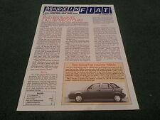 Sept 1987 MADE IN FIAT MAGAZINE BROCHURE FERRARI F40 REGATA LANCIA DELTA 4WD
