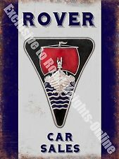 Rover Old Classic Car Badge, 115 Vintage Garage, Spares, Large Metal/Tin Sign