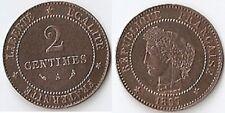 2 CENTIMES CÉRÈS 1897 A TORCHE RARE COTÉE 90 € VOIR DESCRIPTIF ET PHOTO