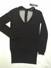 ALESSANDRO DELL'ACQUA Knitwear BNWT Black Jumper IT size 40 UK size 8-10