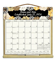 PERSONALIZED CALENDAR WITH 2018, 2019 & ORDER FORM FOR 2020 FLOWERS ON BLACK