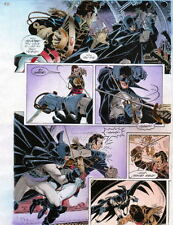 BATMAN MASTER OF THE FUTURE Pg #52 HAND COLORED PRINT GUIDE Barreto, Steve Oliff