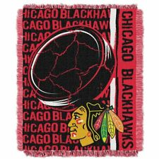 Chicago Blackhawks Home Ice Advantage 48x60 Woven Tapestry Throw FREE US SHIP