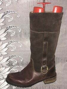 WRANGLER LEATHER FAUX FUR LINED WINTER BOOTS - UK 6
