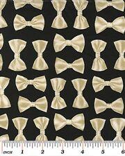 Benartex Night at the Opera by Kanvas 8006 12 Black Bow Tie -  Cotton Fabric