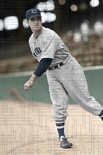 """Chubby Dean - 1941 Cleveland Indians - 4""""x6"""" colorized print"""