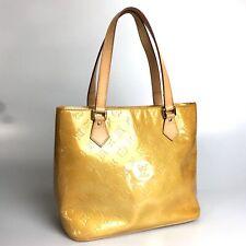 Louis Vuitton tote bag Monogram Vernis Houston M91004 beige Used 1377-10Z14