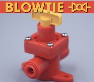 Kegland BlowTie Spunding Valve Adjustable Pressure Relief Gauge 5/16 Pushfit