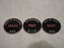 Sons of Anarchy Mezco Challenge Coin Lot of 3 Gemma, Piney, Happy FX limited New