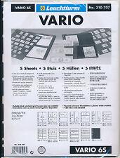 LIGHTHOUSE 25 VARIO STOCK SHEETS 6S SIX POCKET BLACK BACKGROUND