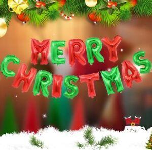 """16"""" Gold Silver MERRY CHRISTMAS Foil Balloons Self Inflating Xmas Baloons Santa"""