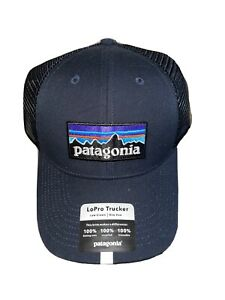 Patagonia P-6 Logo LoPro Trucker Hat Cap SOLD OUT Blue O/S!