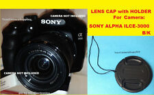 LENS CAP fits DIRECTLY to CAMERA SONY ALPHA ILCE-3000 K/B  ILCE3000 KB A3000