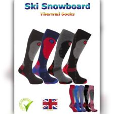 SKI SOCKS MENS WOMENS HIKING LONG WARM WALKING SOCK LADIES THERMAL WINTER BOYS