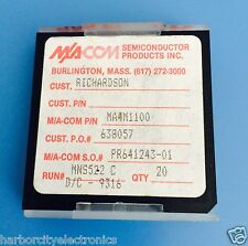 MA4M1100 MA-COM SEMICONDUCTOR SILICON CAPACITOR MIS/MNS 100PF 100VDC CHIP 20ps