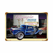 KKD Custom Car Drive In Theater Autokino Hot Rod Retro Sign Blechschild Schild