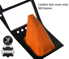 ORANGE TOP GRAIN REAL LEATHER GEAR GAITER FITS S13 240SX 200SX 180SX 1988-1993
