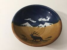 "Montana Earth Pottery Stoneware Elk Bowl, 7 1/4"" Diameter x 2 1/2"" High"